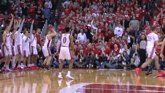 Pritzl's late-game triple ignites Wisconsin crowd
