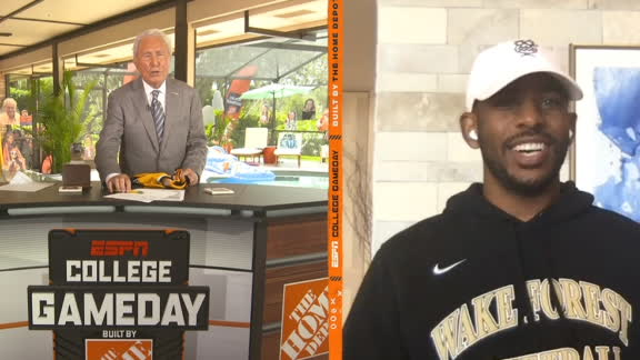 Lee Corso trolls Chris Paul while making his Clemson-Wake Forest pick