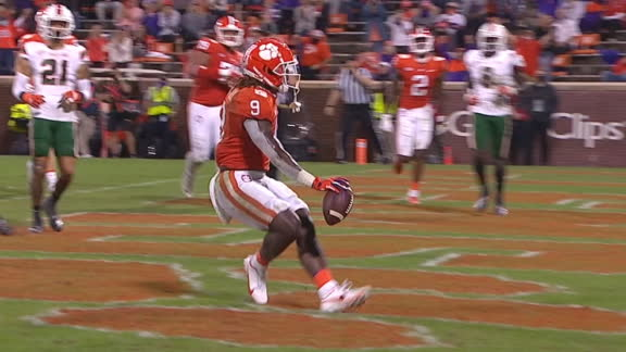 Etienne's TD extends Clemson's lead over Miami