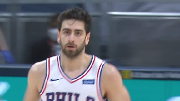 Korkmaz's back-to-back buckets put 76ers out front