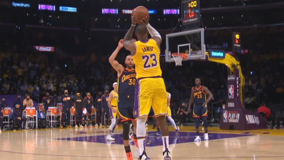 LeBron hits wild 3 to propel Lakers past Warriors