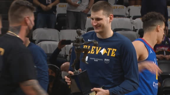 Jokic awarded NBA MVP trophy