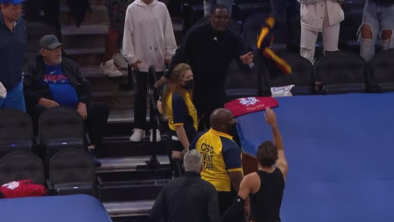 Trae tosses jersey to his dad after Game 7 win on Father's Day