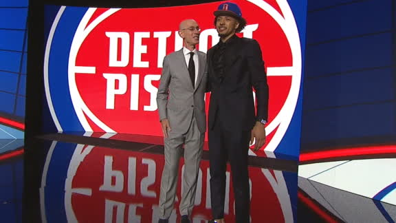 Cunningham nearly speechless after being picked No. 1 by Pistons