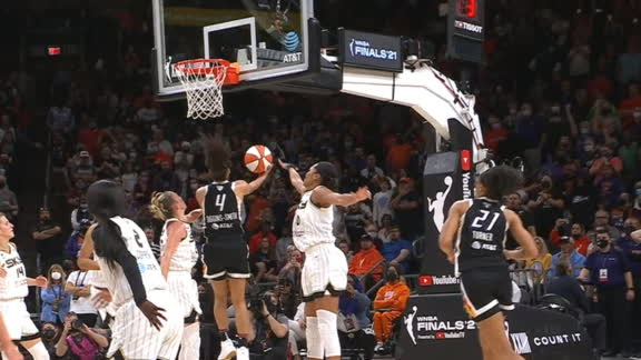 Diggins-Smith takes Vandersloot to the rack to ice the Sky