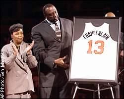 on sale 75d45 f0ea7 ESPN.com - NBA - Warriors finally retire Wilt's jersey