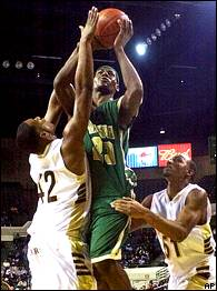 3  A freshman named LeBron James scores 15 points for St. Vincent-St. Mary  in his high school debut against Cuyahoga Falls. dfe3f9ccd