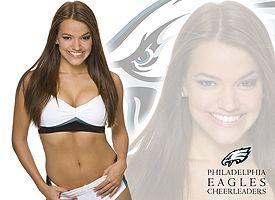 Kjersti, Eagles cheerleader