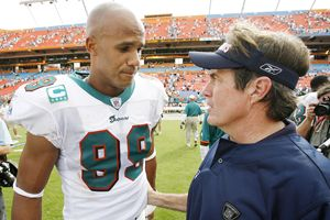 Jason Taylor and Bill Belichick