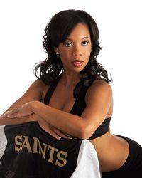 DiAnne, Saints cheerleader