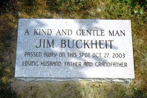 Mary Buckheit's dad's memorial stone