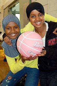 Girls with Basketball