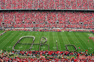 The Ohio State Buckeyes marching band