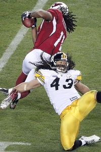 Larry Fitzgerald and Troy Polamalu