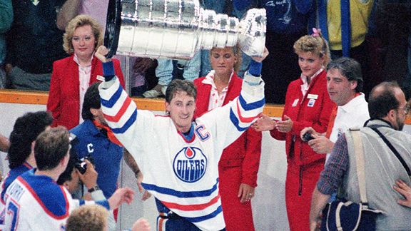Wayne Gretzky Hoists the Stanley Cup