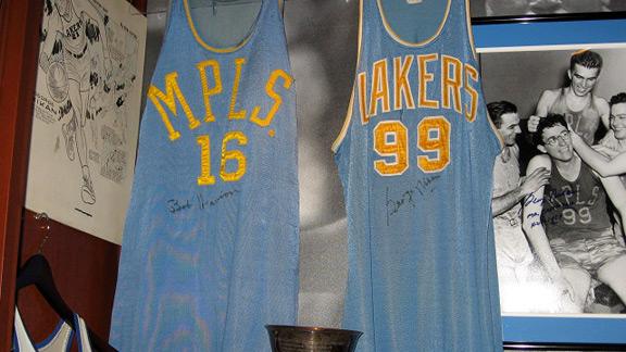 George Mikan, Bob Harrison jerseys