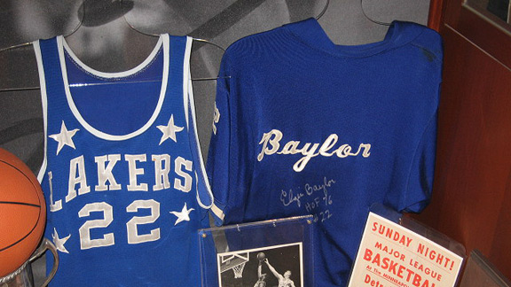Elgin Baylor's game-worn 1958 rookie jersey