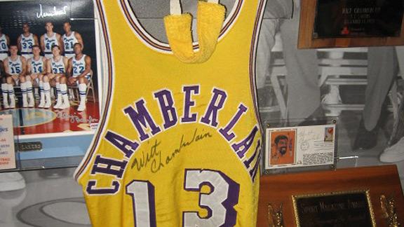 Wilt Chamberlain 1960s game-worn home jersey