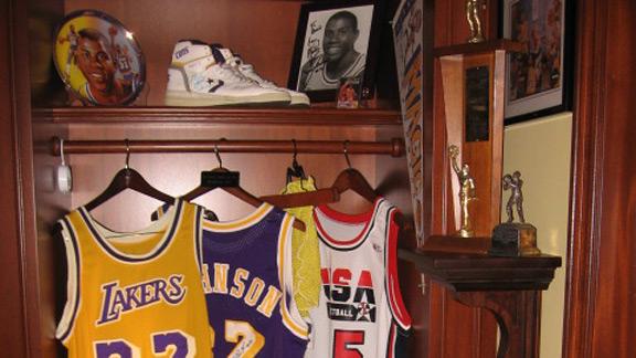 Magic Johnson locker shrine