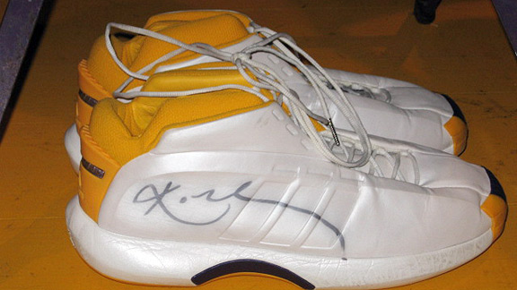 Kobe Bryant's signed, game-worn shoes