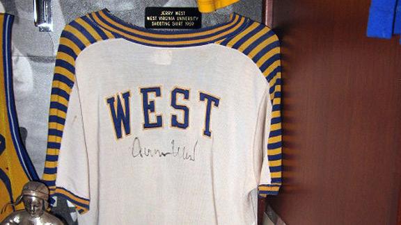 Jerry West West Virginia University warm-up jacket