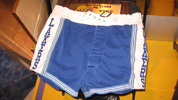 Jerry West Lakers shorts