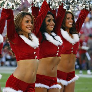 Santa cheerleaders