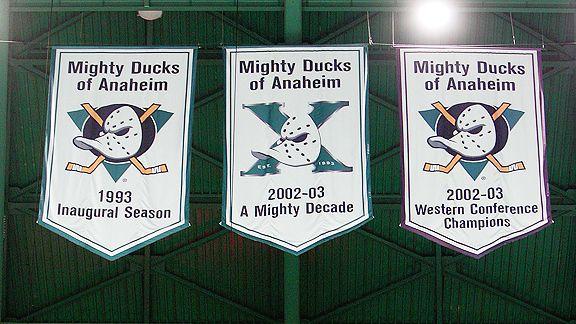 Anaheim Ducks banners