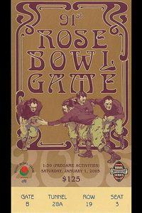 2005 Rose Bowl ticket