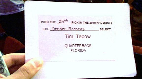 Tim Tebow draft card