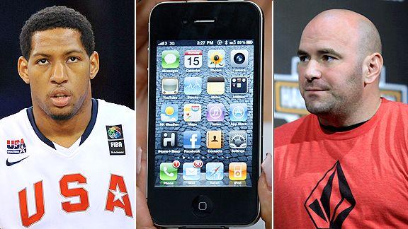 Dana White, iPhone and Danny Granger