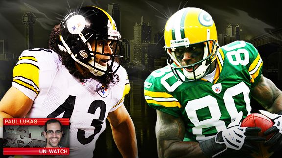 Steelers-Packers (Uni Watch)