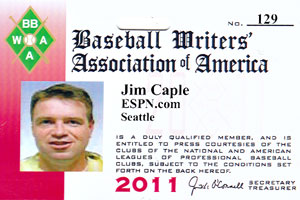 Caple BBWAA Card