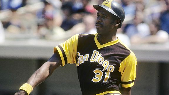Winfield hit 154 home runs during his eight seasons with the Padres.
