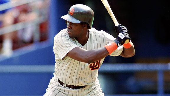 Gwynn won his first batting title with a .351 mark in 1984 and would win three more in the '80s.