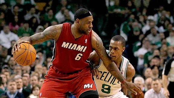 LeBron James and Rajon Rondo
