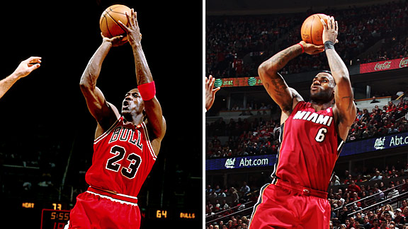 Gratificante microondas Pegajoso  LeBron James is the next Michael Jordan - TrueHoop- ESPN