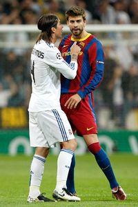 Sergio Ramos and Gerald Pique