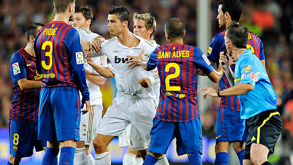 Real Madrid And Barcelona End Another Match In Disgraceful Chaos
