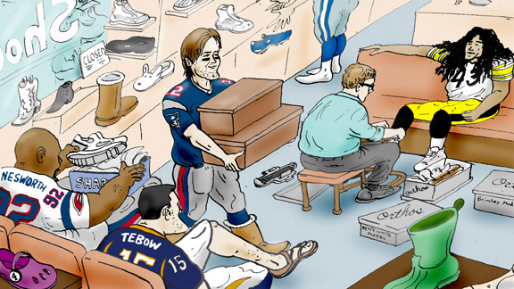 NFL shoe store cartoon