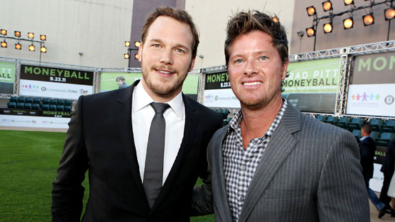 Chris Pratt and Scott Hatteberg