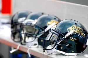 Jacksonville Jaguars helmets