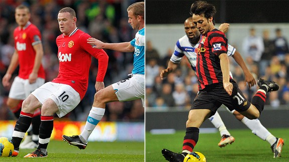 Wayne Rooney and David Silva