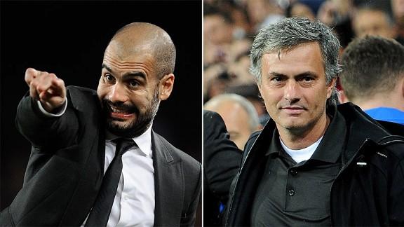 Josep Guardiola and Jose Mourinho