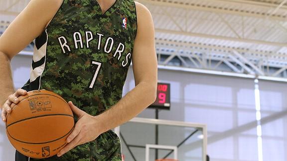 Toronto Raptors camouflage jersey