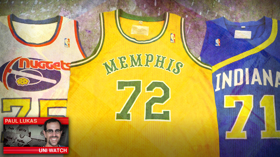online store d76aa 80683 NBA unveils ABA throwback uniforms for Bobcats, Nuggets ...