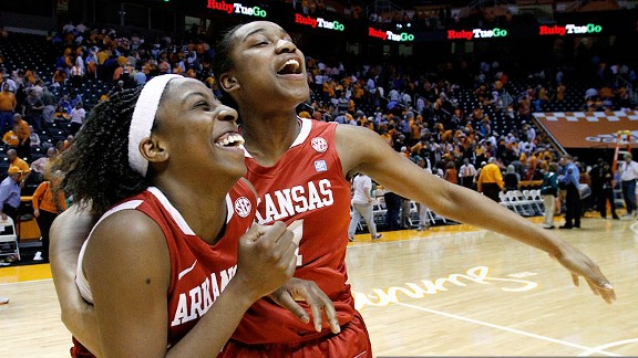 Arkansas Women's basketball celebrates