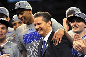 Anthony Davis and John Calipari