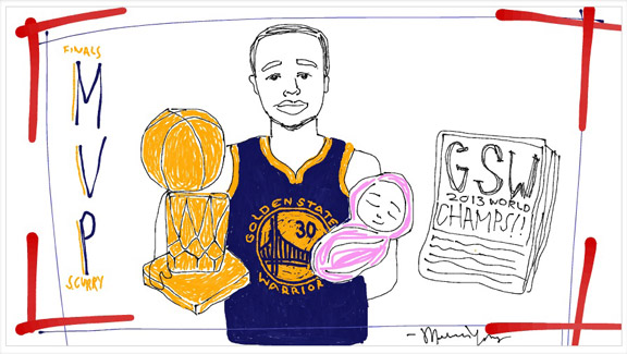Fans Draw For Stephen Curry's Daughter - Visuals - ESPN Playbook- ESPN