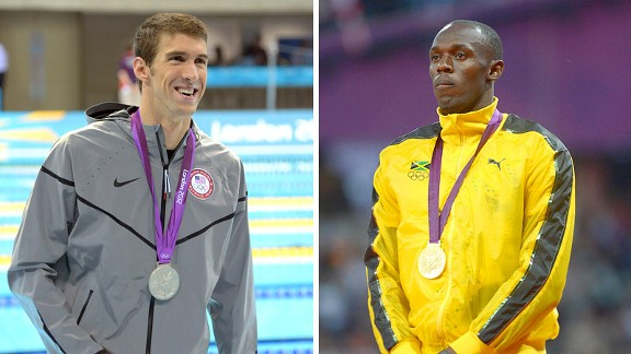 Michael Phelps and Usain Bolt